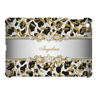 Elegant Black Silver White Gold Diamond Image iPad Mini Covers