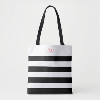 Elegant Black Stripes All-Over-Print Tote Bag