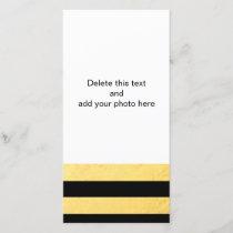 Elegant Black Stripes Gold Foil Printed