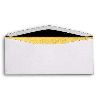 Elegant Black Stripes Gold Foil Printed Envelope
