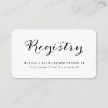 Elegant Black Stripes Wedding Registry Cards