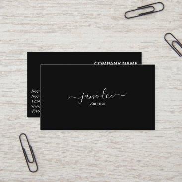 Elegant Black Stylish Business Brand Identity Business Card