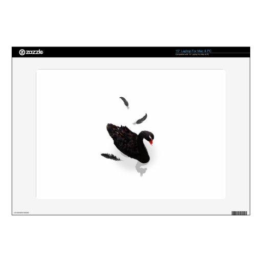 """Elegant Black Swan Skins For 15"""" Laptops"""