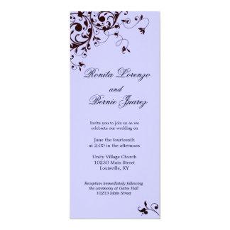 Elegant Black Swirl - Lavender background Card