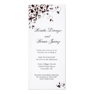 Elegant Black Swirl - Linen paper Card