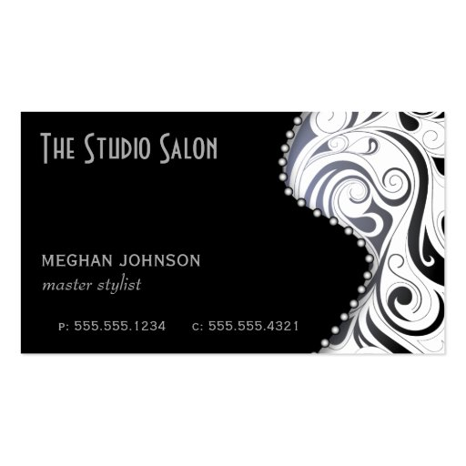 Black business card template elegant black swirly swirl business card template zazzle reheart Image collections