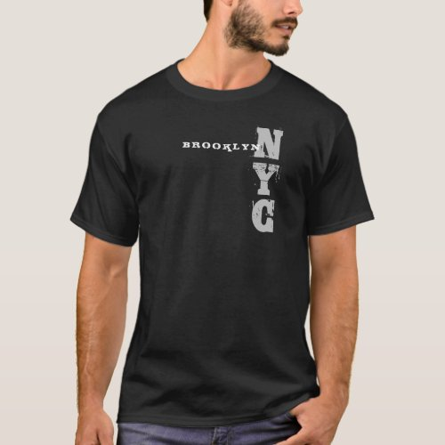 Elegant Black Template Brooklyn Nyc New York City T_Shirt