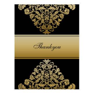 Elegant black Thank You Cards