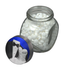 Elegant Black Tuxedo And White Wedding Dress Candy Jelly Belly Candy Jar at Zazzle