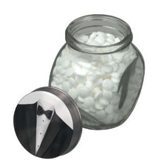Elegant Black Tuxedo Mint and Candy Jar Jelly Belly Candy Jars