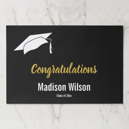 Elegant Black White and Gold Congratulations Paper Pad
