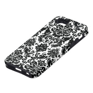Elegant Black White Damask Pattern iPhone SE/5/5s Case