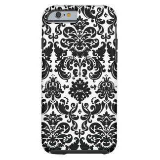 Elegant Black White Damask Pattern iPhone 6 Case