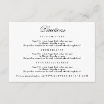 Elegant Black & White Enclosure Card