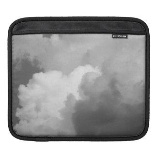 Elegant Black White Evening Twilight Skies Clouds Sleeve For iPads