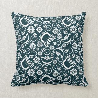 Elegant black white floral Pillow