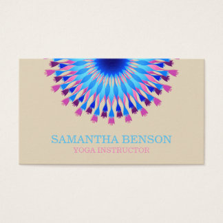 Elegant Black & white Flower Logo Yoga Business Card