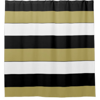 black white striped shower curtain. Elegant Black White Gold Brown Stripes Pattern Shower Curtain And Striped Curtains  Zazzle