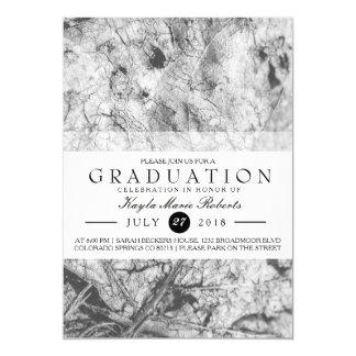 Elegant Black & White Graduation Card