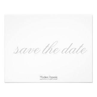 Elegant Black White Grey Save-the-date Invite