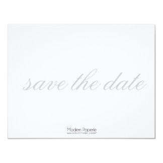 "Elegant Black, White & Grey Save-the-date Invite 4.25"" X 5.5"" Invitation Card"