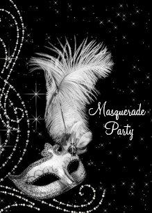 black and white party invitations zazzle