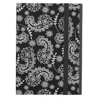 Elegant Black & White Paisley iPad Air Case Stand
