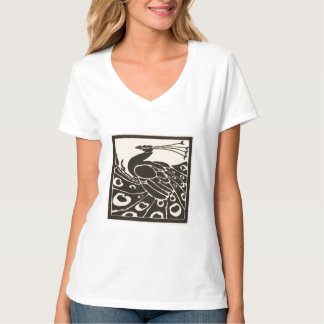 ELEGANT BLACK WHITE PEACOCK T-Shirt