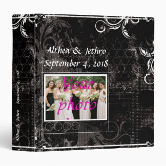 Elegant Black White Photo Scrapbook Album Binder