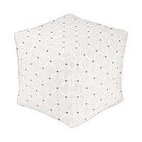 Elegant Black White Small Dots Pattern Pouf