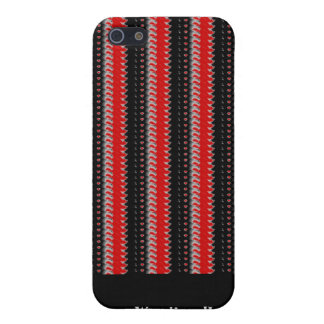 Elegant black white striped cord texture fabric iPhone SE/5/5s cover