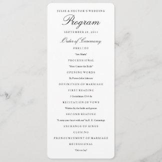 Elegant Black & White Wedding Program Template