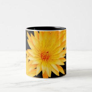 Elegant black & yellow lillies - mugs & cups