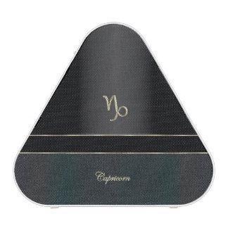 Elegant Black Zodiac Sign Capricorn Bluetooth Speaker