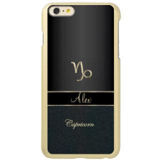 Elegant Black Zodiac Sign Capricorn Incipio Feather Shine iPhone 6 Plus Case