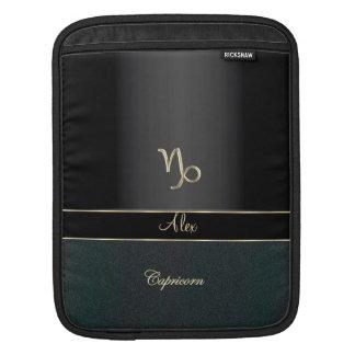 Elegant Black Zodiac Sign Capricorn Sleeve For iPads
