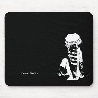 Elegant BLACKs reverted Mouse Pad