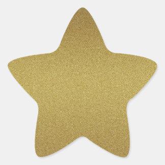 Elegant Blank Gold Glitter Seals Star Sticker