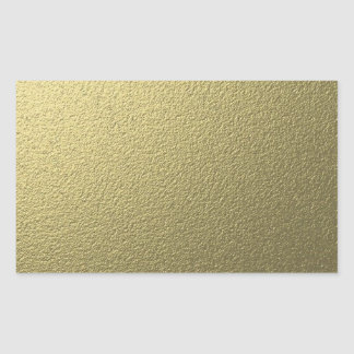 Elegant Blank Gold Glitter Seals Rectangle Stickers
