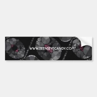 Elegant Bling Abstract Car Bumper Sticker