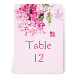 Elegant Bloom Flowers Table card