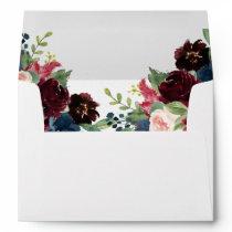 Elegant Bloom | Modern Rustic Boho Chic Floral Envelope
