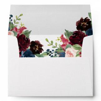 Elegant Bloom   Modern Rustic Boho Chic Floral Envelope