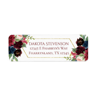 Elegant Bloom | Rustic Boho Floral Return Address Label