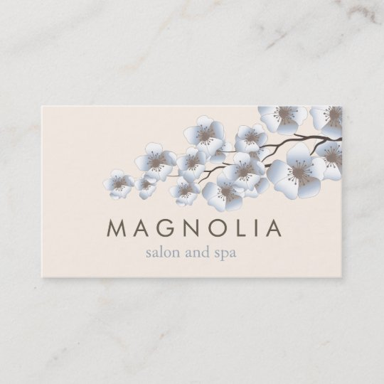 Elegant blossom blue chic beauty spa business card zazzle elegant blossom blue chic beauty spa business card reheart Choice Image