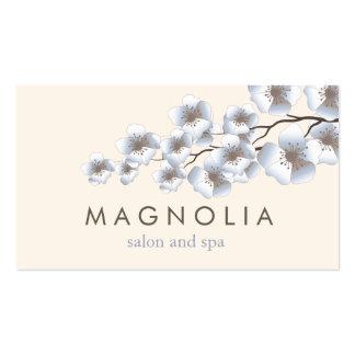 Elegant Blossom Blue Chic Beauty Spa Business Card