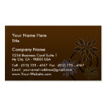 Elegant blossom on chocolate texture business card template