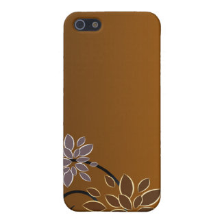 Elegant blossom on chocolate texture case for iPhone 5
