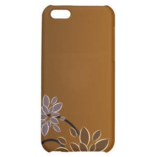 Elegant blossom on chocolate texture iPhone 5C cover