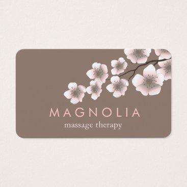 kat_parrella Elegant Blossom Pink Chic Zen Business Card